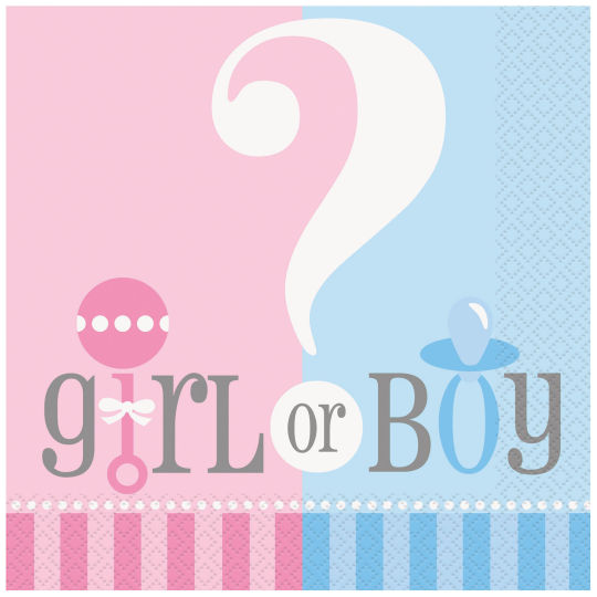 Boy or Girl Servetten 20st