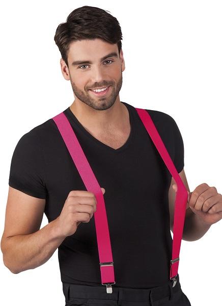 Bretels neon roze