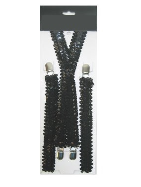Bretels paillet zwart