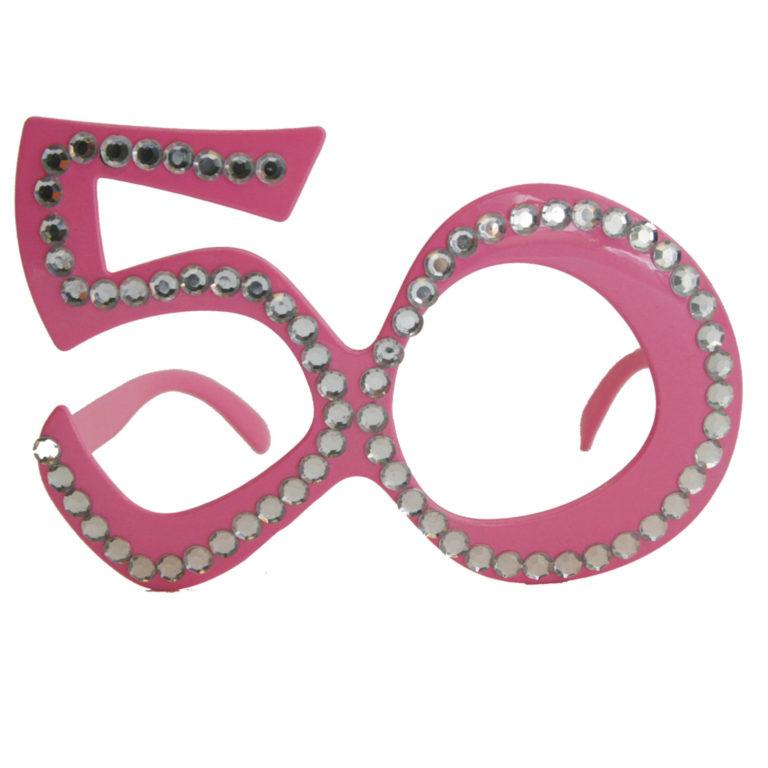 Bril 50 jaar roze