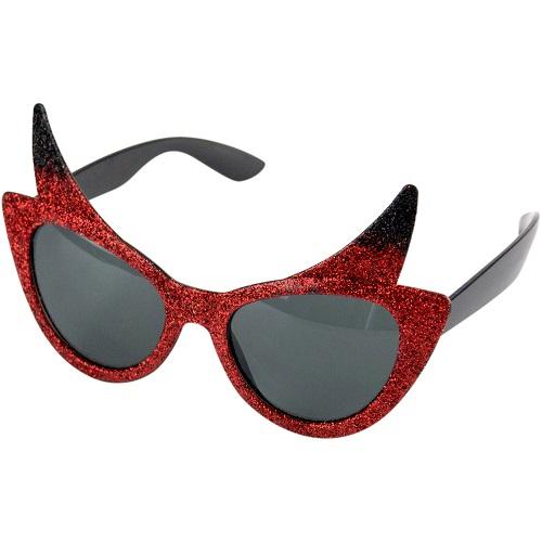 Bril duivel met glitter
