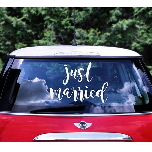 Bruiloft auto sticker Just Married