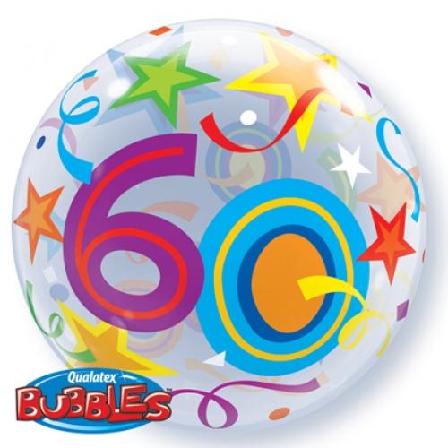 Bubbles ballon 60 jaar 56 cm