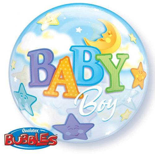 Bubbles ballon Baby boy 56cm