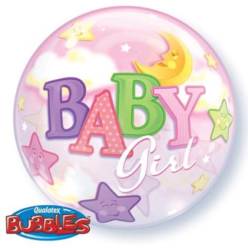 Bubbles ballon baby girl 56cm