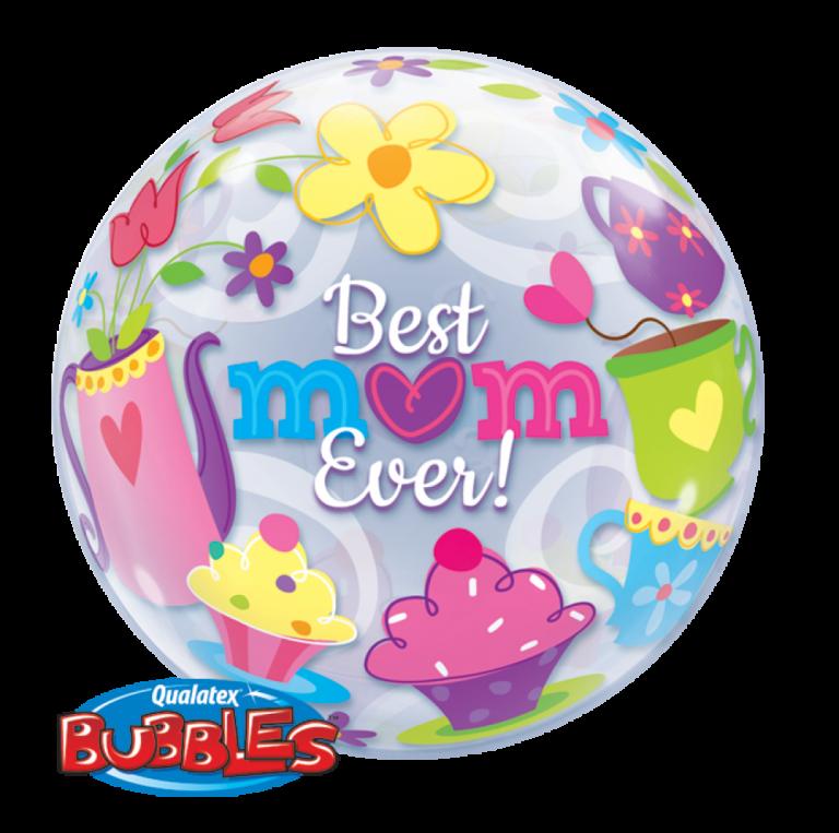 Bubbles ballon best mom ever 56cm