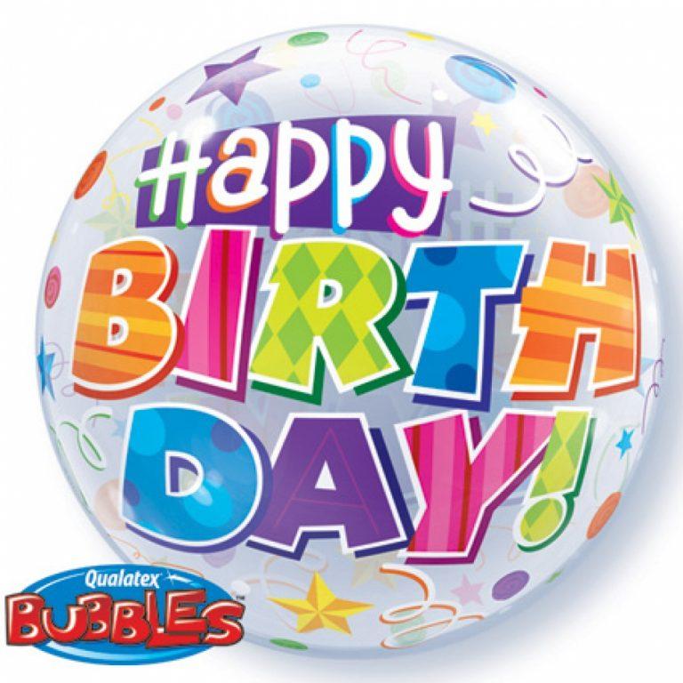 Bubbles ballon happy birthday 56cm