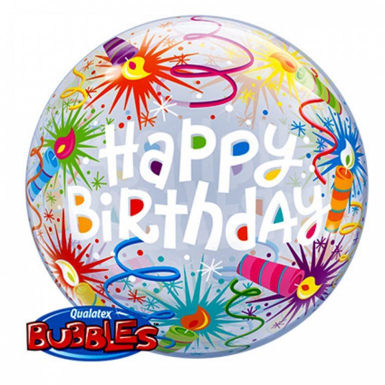 Bubbles ballon happy birthday candles 56cm