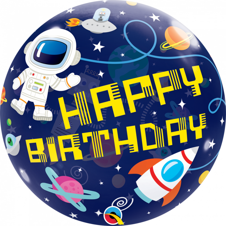 Bubbles ballon happy birthday space 56cm