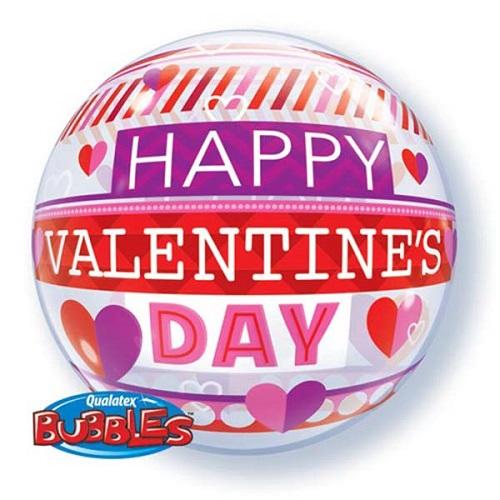 Bubbles ballon Happy Valentines day 56cm