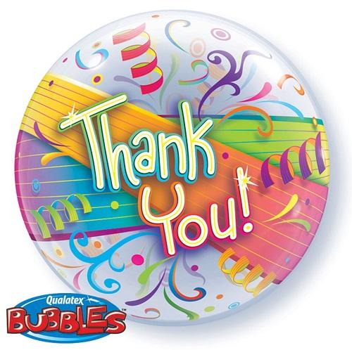 Bubbles ballon Thank you 56cm