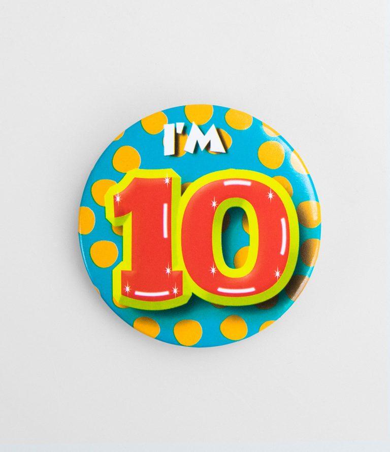 Button 10 jaar