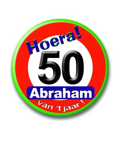 Button Abraham verkeersbord