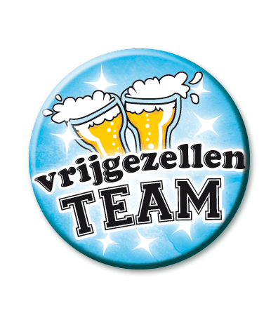 Button vrijgezellen team heren