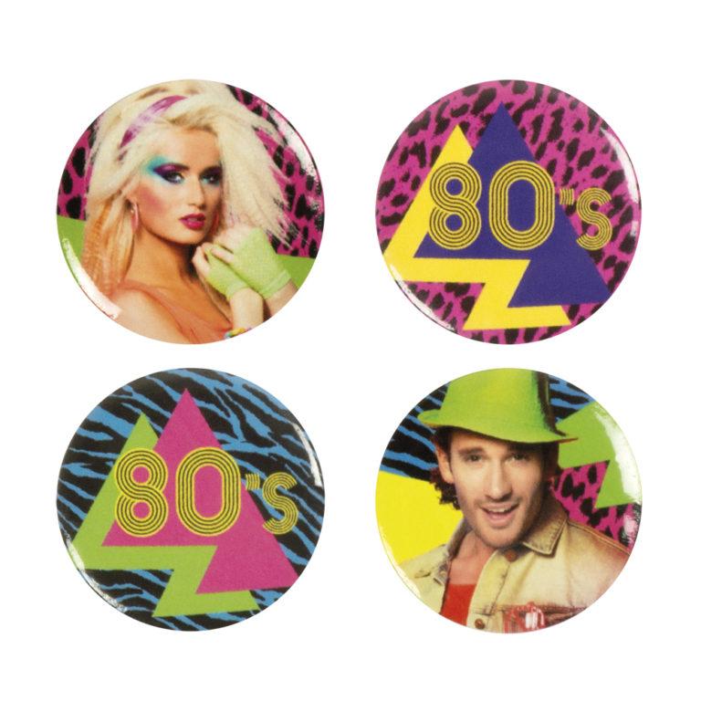 Buttons 80ties 4 stuks