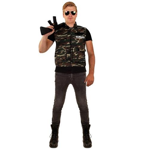 Camouflage vest heren