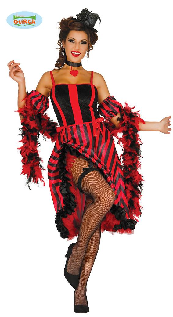 Can-can jurk rood - Medium