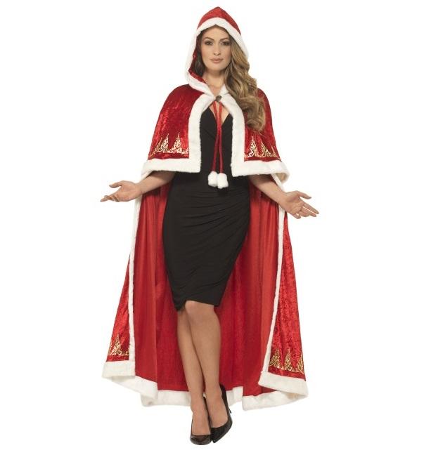 Cape kerstvrouw lang luxe