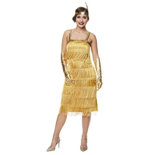 Charleston jurk goud met pailletten - XL