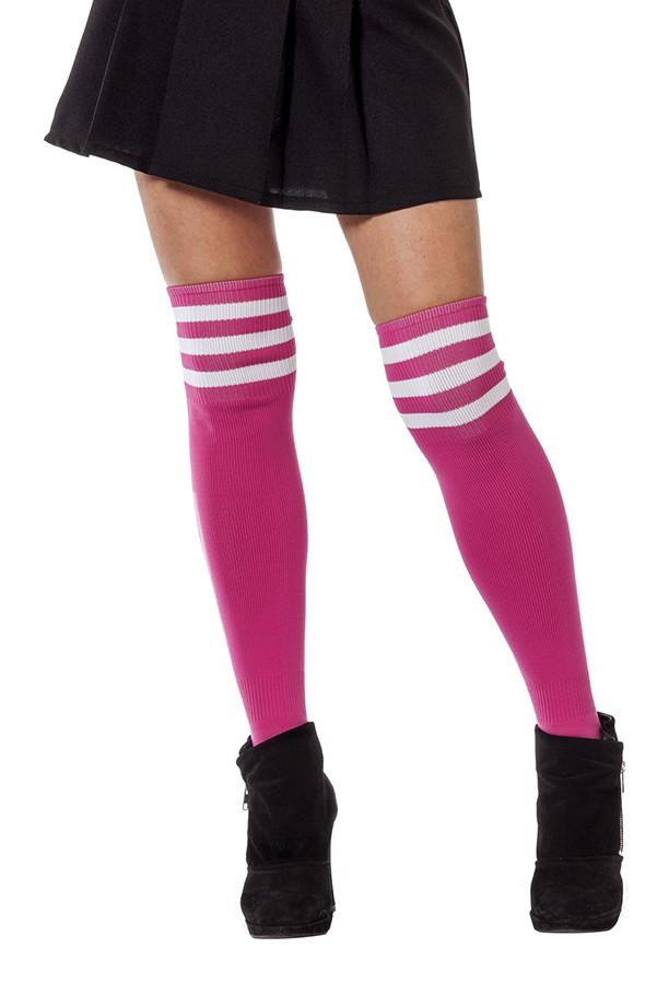 Cheerleader sokken roze wit
