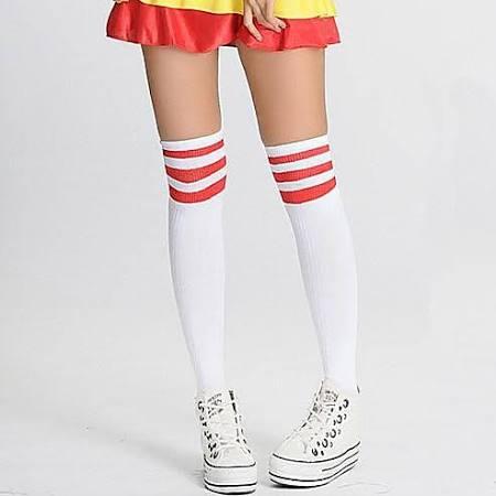 Cheerleader sokken wit rood
