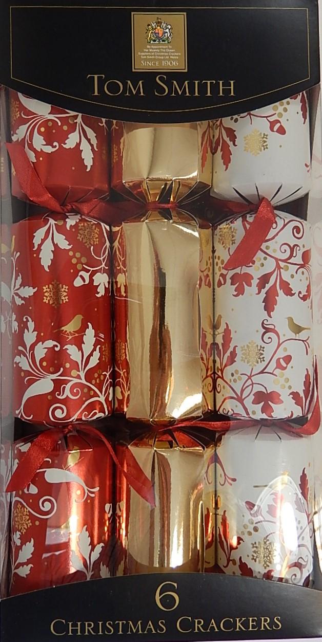 Christmas cracker folie met vogel 6 stuks 12&#34: