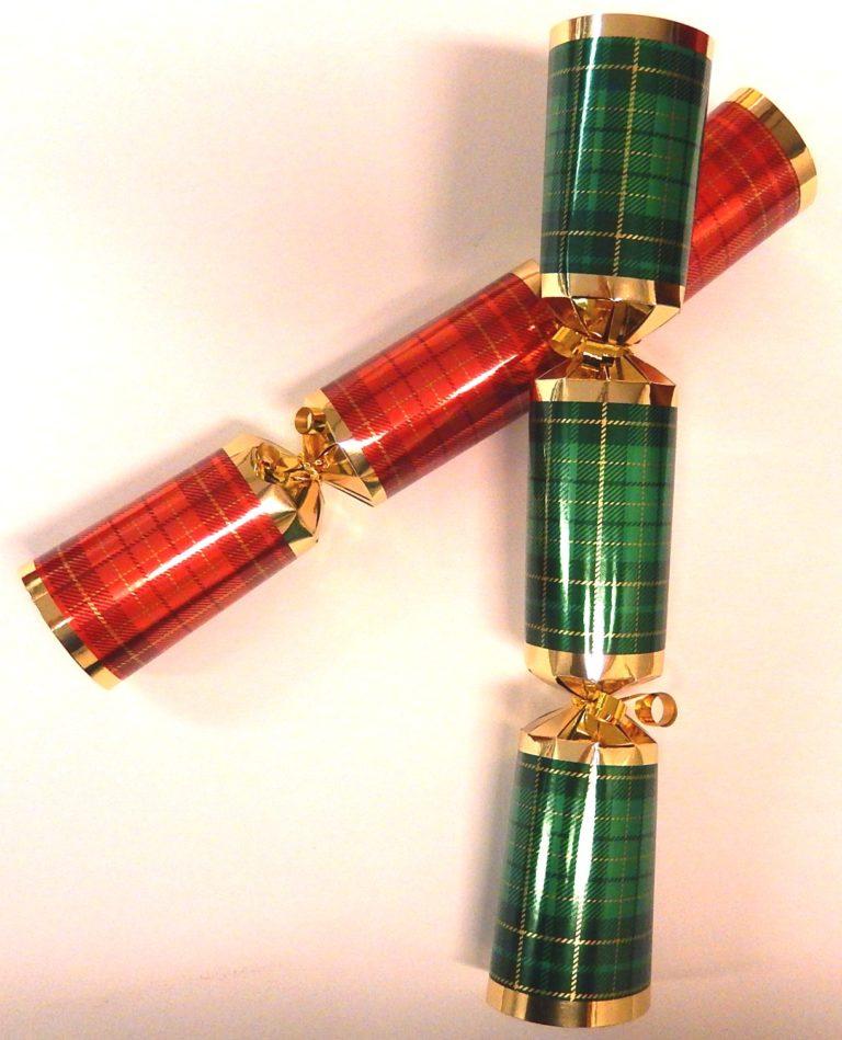 Christmas cracker per stuk geruit 11&#34,
