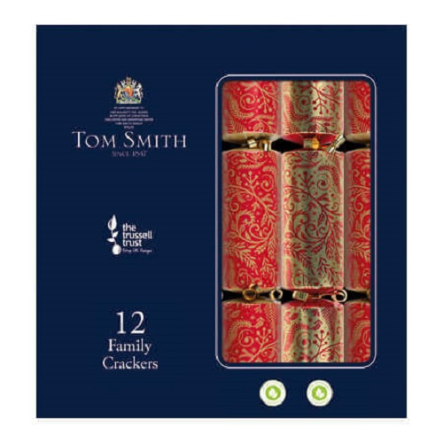 Christmas crackers family rood 12st