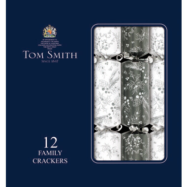 Christmas Crackers silver/white 12st
