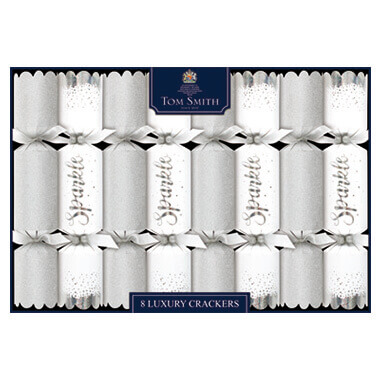 Christmas crackers sparkling white 8st