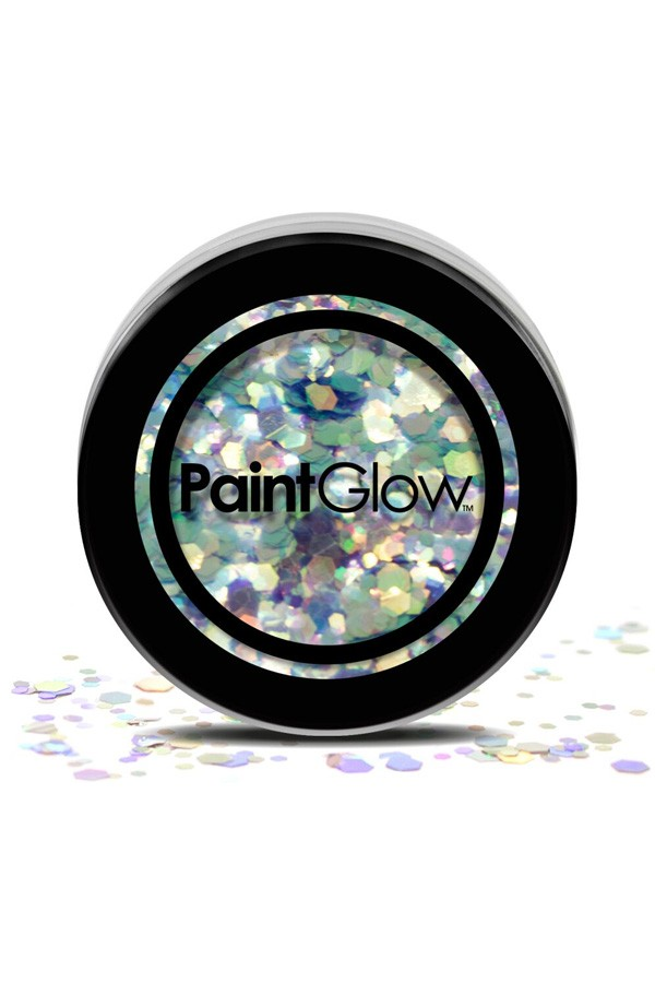 Chunky glitter paint glow disco fever
