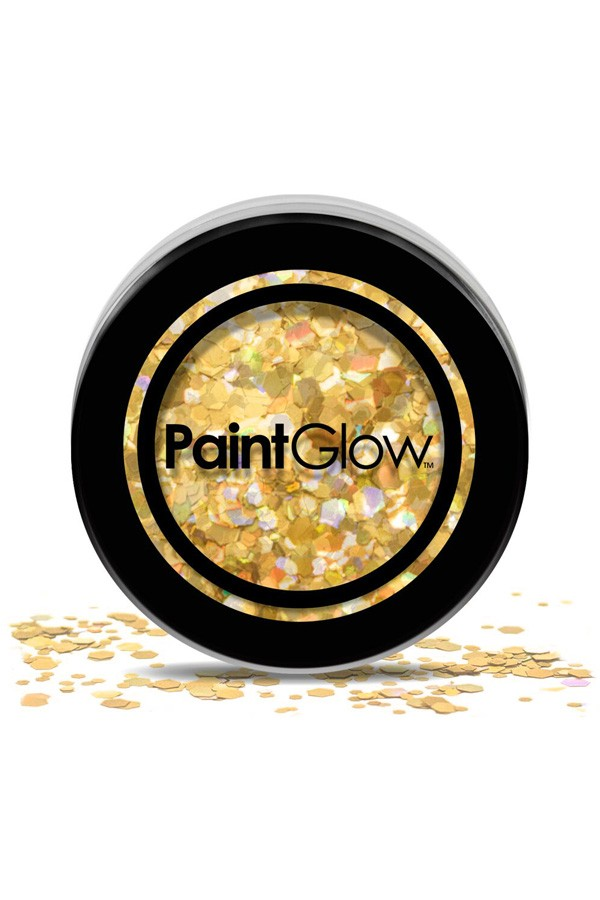 Chunky glitter paint glow gold digger