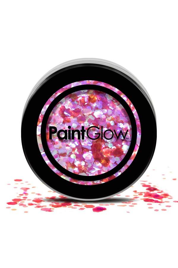 Chunky glitter paint glow heart breaker