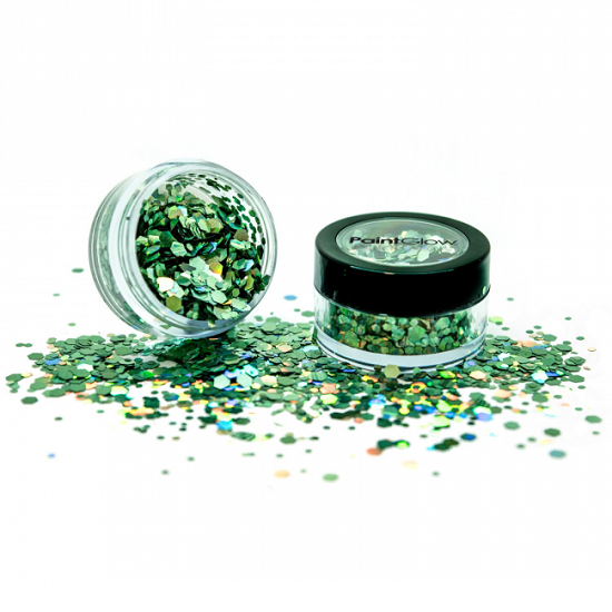 Chunky glitter Paint Glow holografisch Green Envy