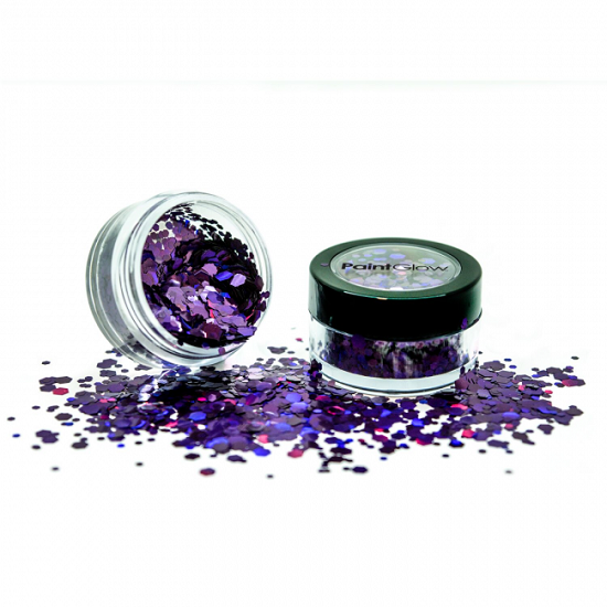 Chunky glitter Paint Glow holografisch Purple Fury