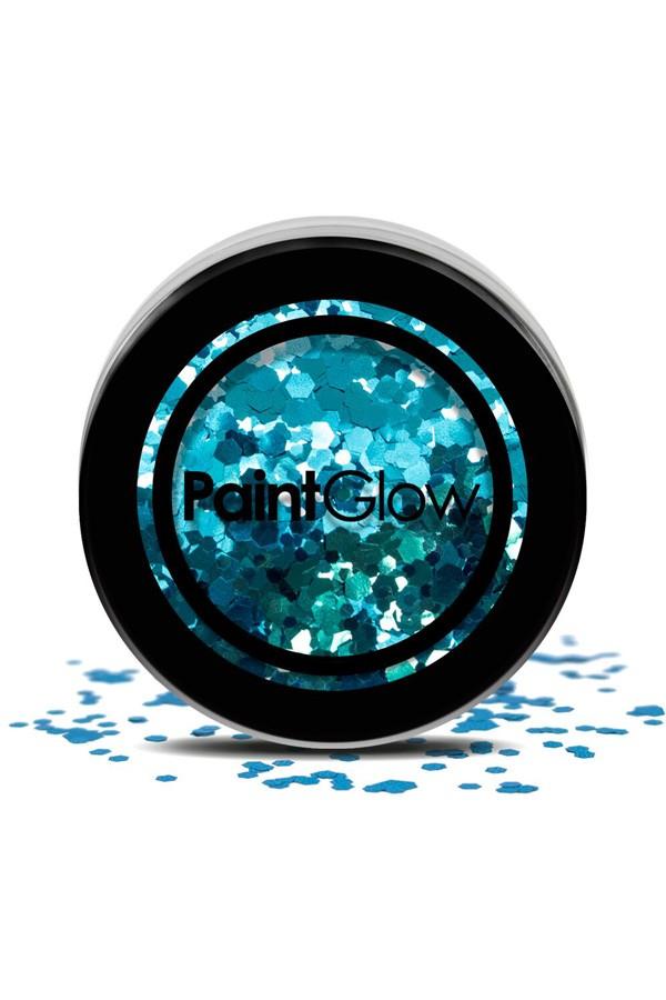 Chunky glitter paint glow kaleidoscope