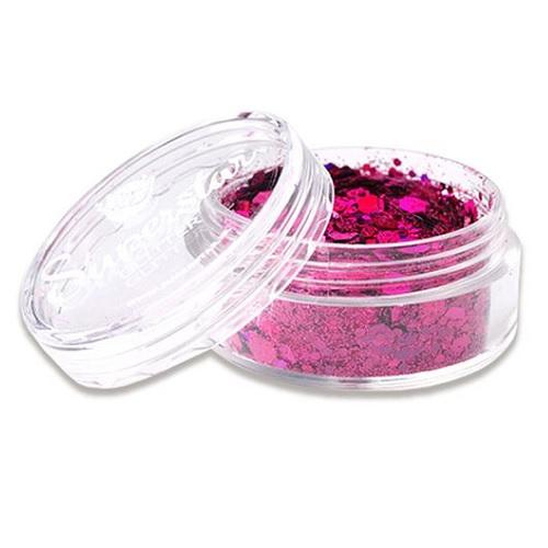 Chunky glitter superstar laser pink