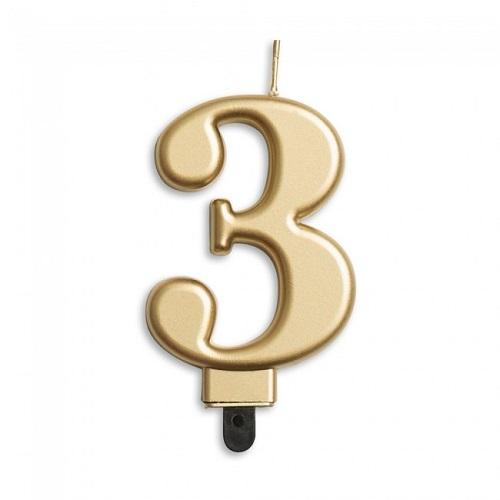 Cijferkaars 3 goud