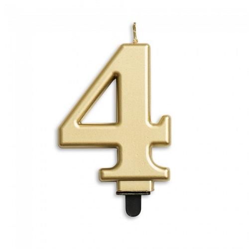 Cijferkaars 4 goud
