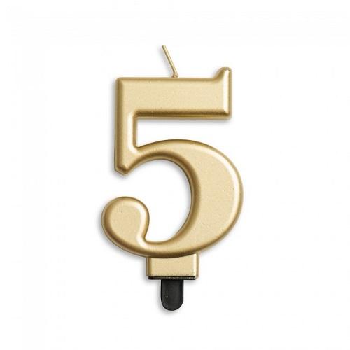 Cijferkaars 5 goud