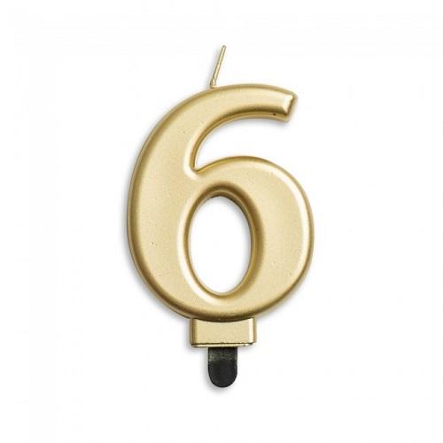 Cijferkaars 6 goud
