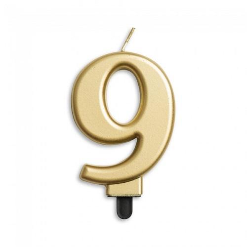 Cijferkaars 9 goud