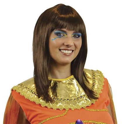 Cleopatra pruik bruin