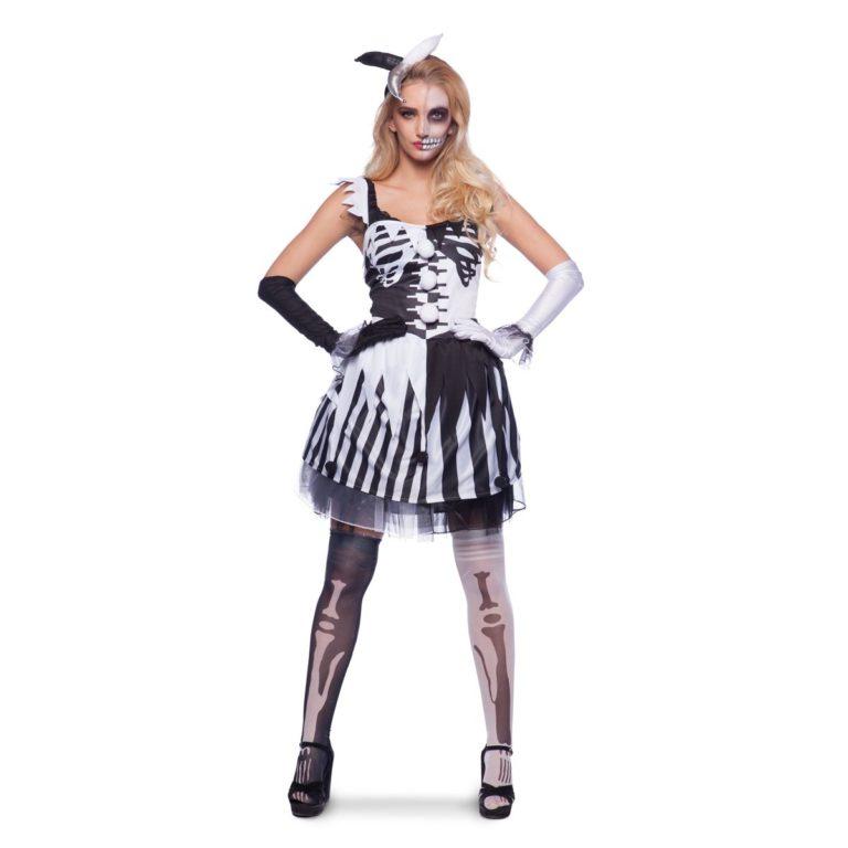 Clowns jurk skelet - L/XL