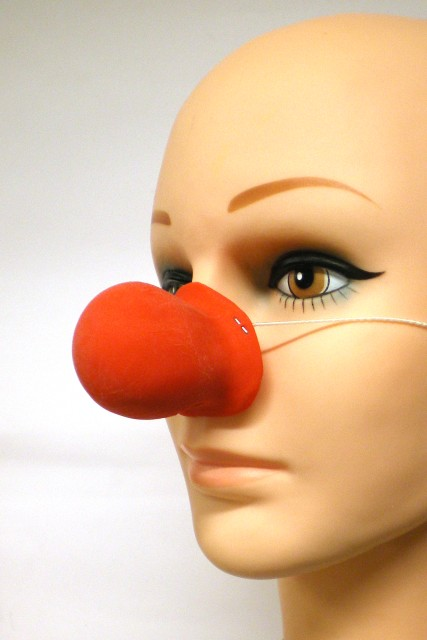 Clownsneus rubber knobbel