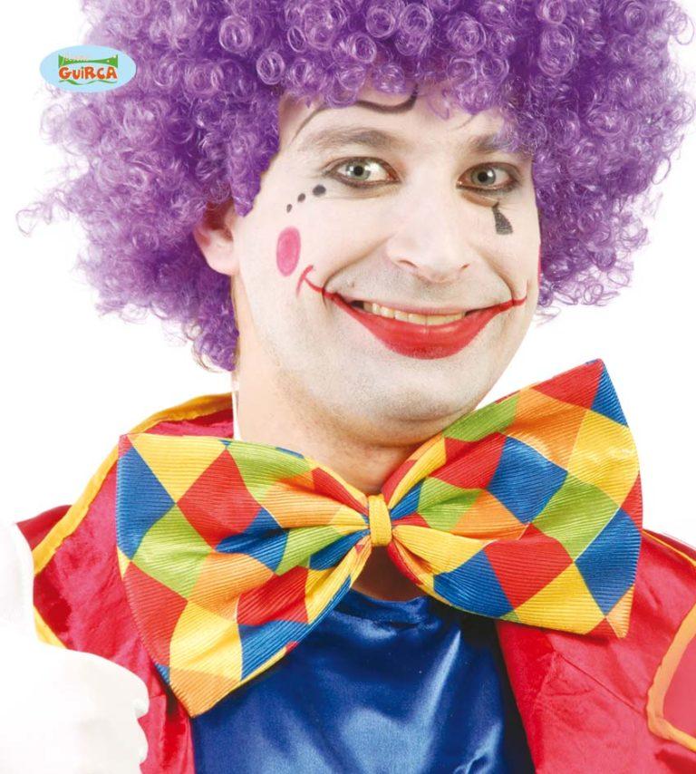 Clownsstrik groot geruit