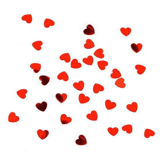 Confetti hart rood 15gr.