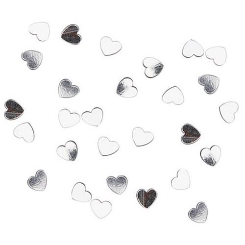 Confetti hart zilver 15gr.