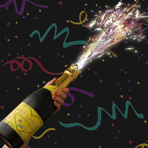 Confetti shooter champagne fles