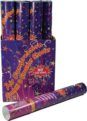 Confetti shooter middel 40 cm kleur